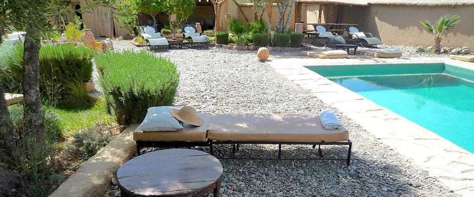 jardin de maison Les Jardins de Skoura - Site officiel maison du0027hôtes et riad à skoura -  Ouarzazate